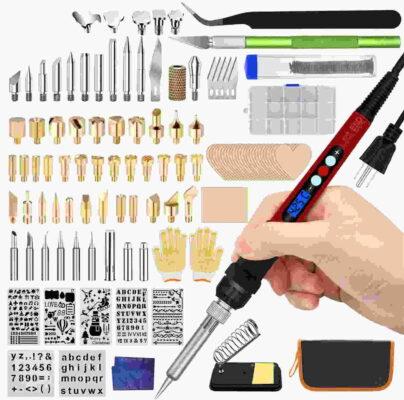Hilogaxy 125 Pcs Wood Burning Kit Pyrography Pen Tool Set