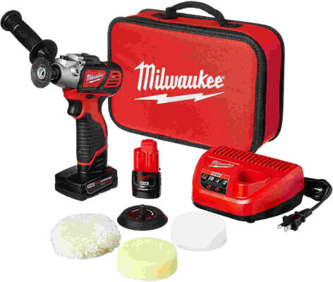 Milwaukee 2438-22X M12 Variable Speed Industrial Buffer - Polisher - Sander